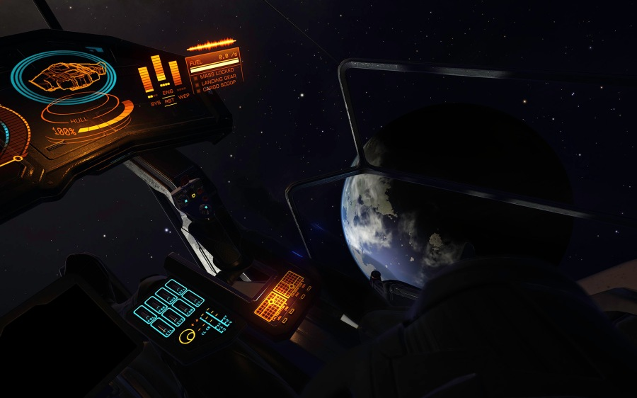 The glass bubble type cockpit of the immense Lakon Type 9 Transporter