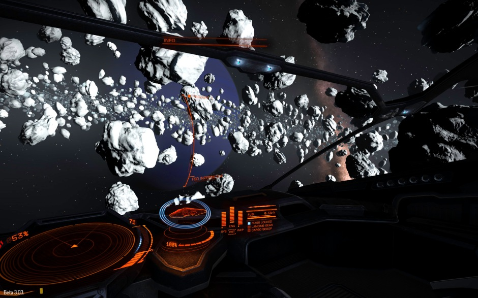 Exploring an ice asteroid belt around Asellus 3 in the Asellus Primus system. Why? Because I can...
