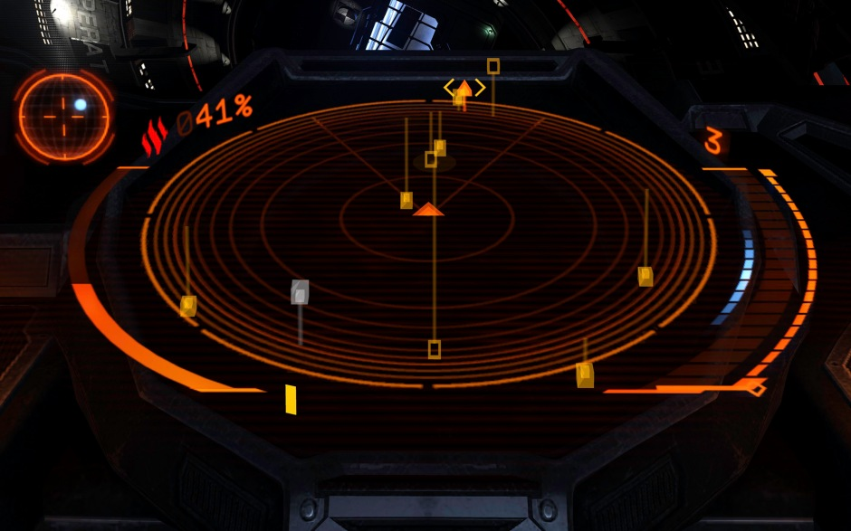 Human players show up as hollow squares on your scanner. Triangles are ships with there weapons deployed.