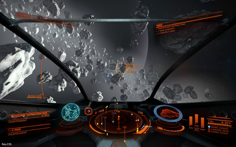 Resource extraction sites, mining hotspots in asteroid fields, are good place to find and hunt wanted criminals