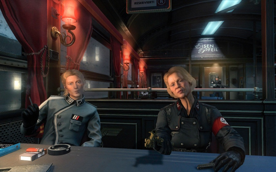 The encounter with Frau Engel on the train is obviously an attempt to give the game depth, but it's ultimately pointless and drawn out