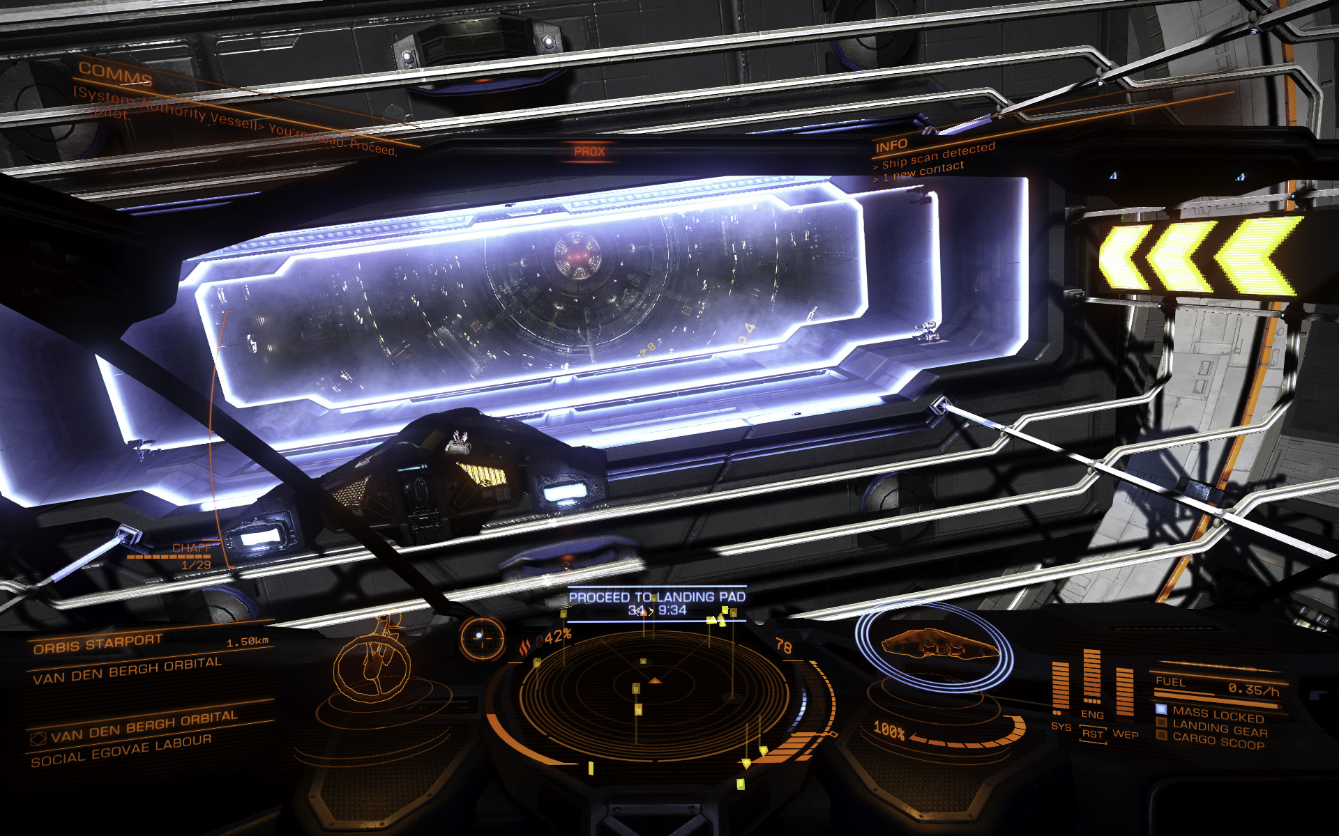Elite: Dangerous beginner's guide: A screenshot showing the mail slot of a starport