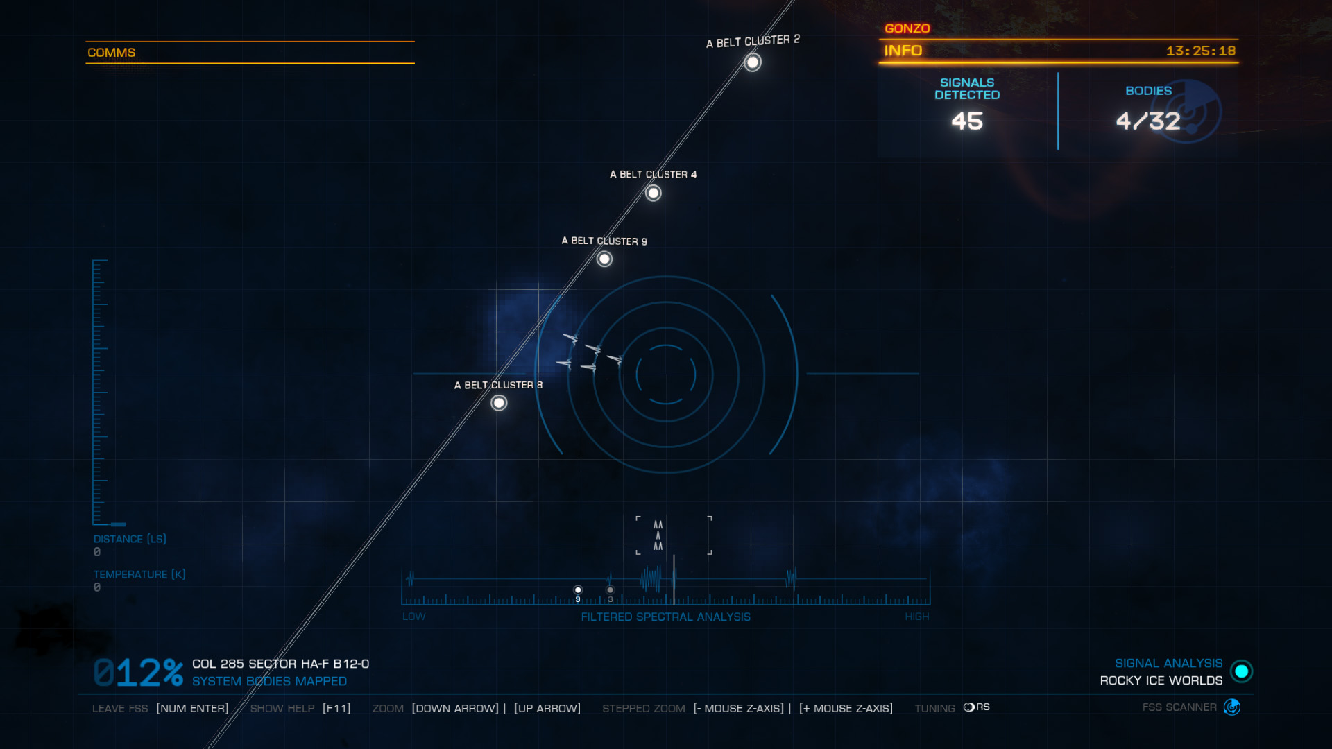 Elite: Dangerous beginner's guide: a screenshot showing how to align FSS patterns