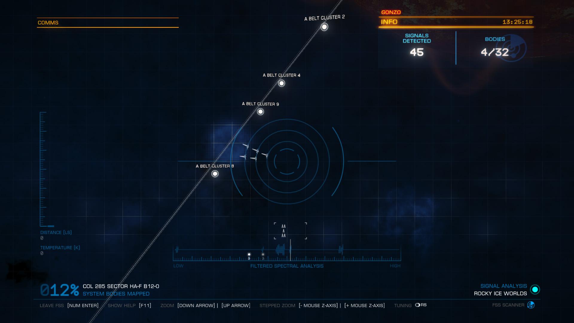 Elite: Dangerous beginner's guide: a screenshot showing how to align FSS patterns