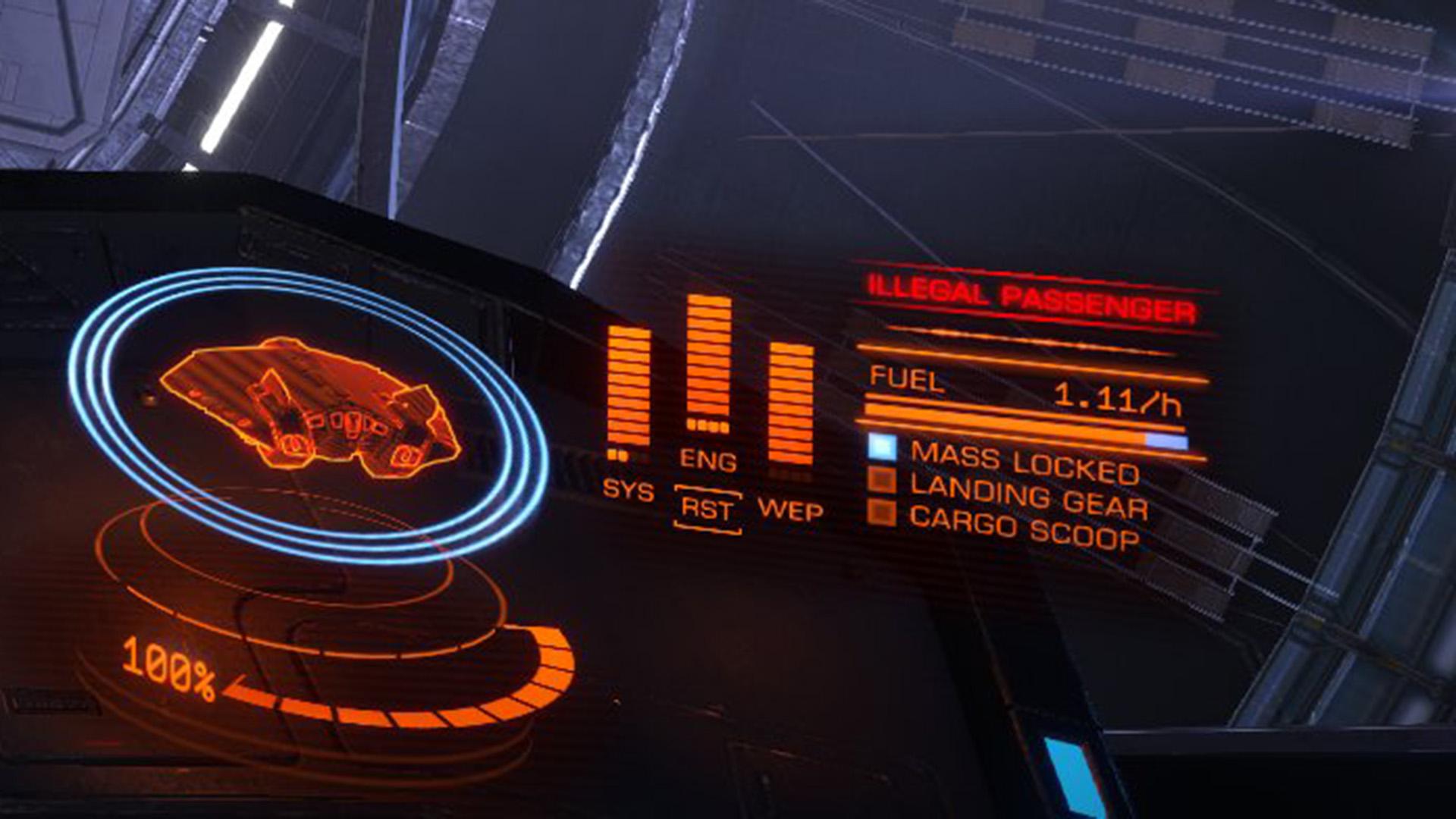 Elite: Dangerous beginner's guide: a screenshot showing the illegal passenger warning