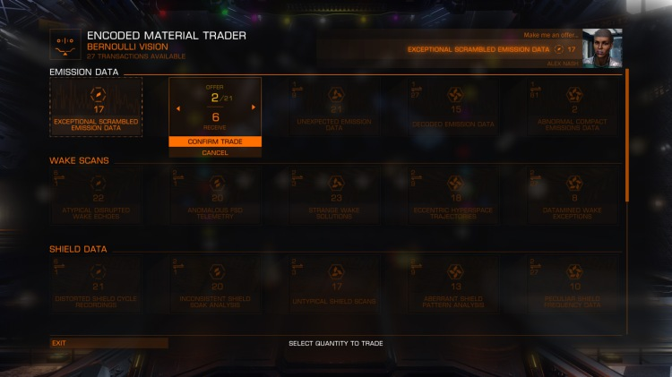 Materials trading