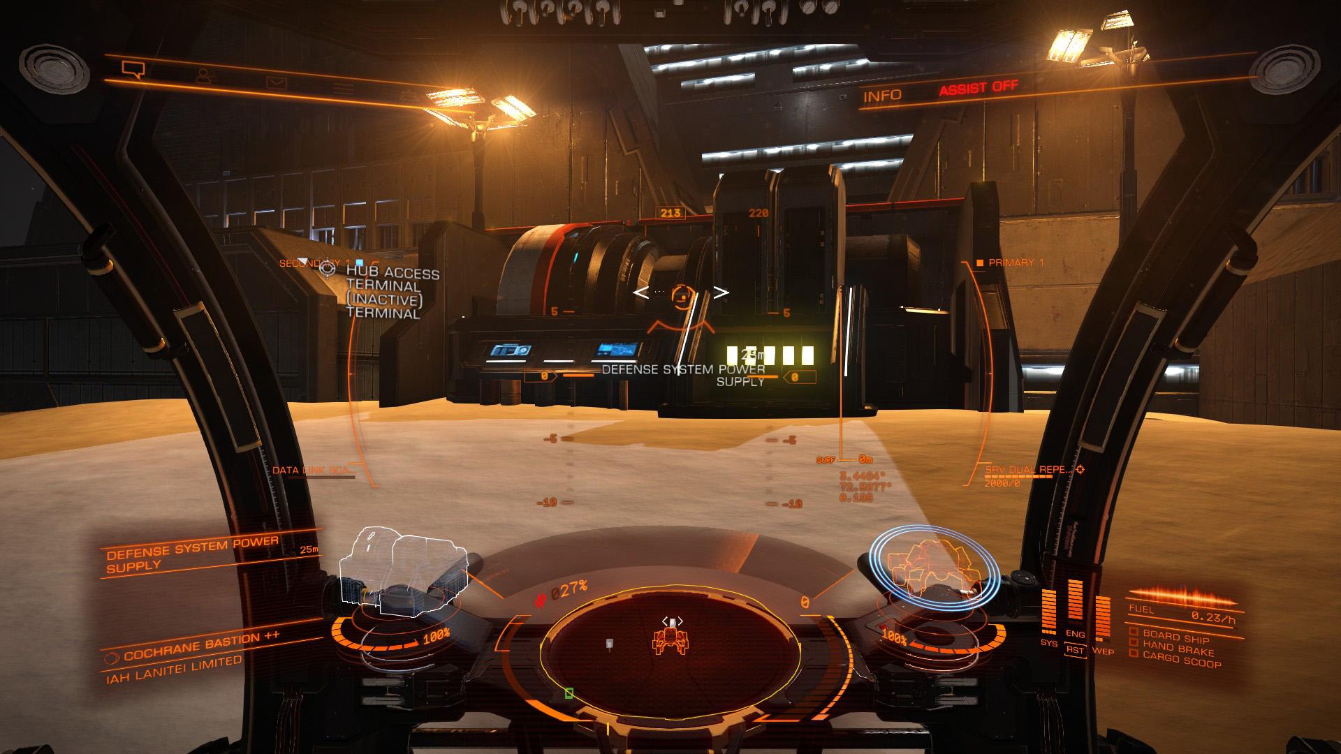 Elite: Dangerous beginner's guide: a screenshot showing what a power generator looks like