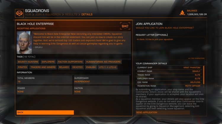 Finding a Squadron to join