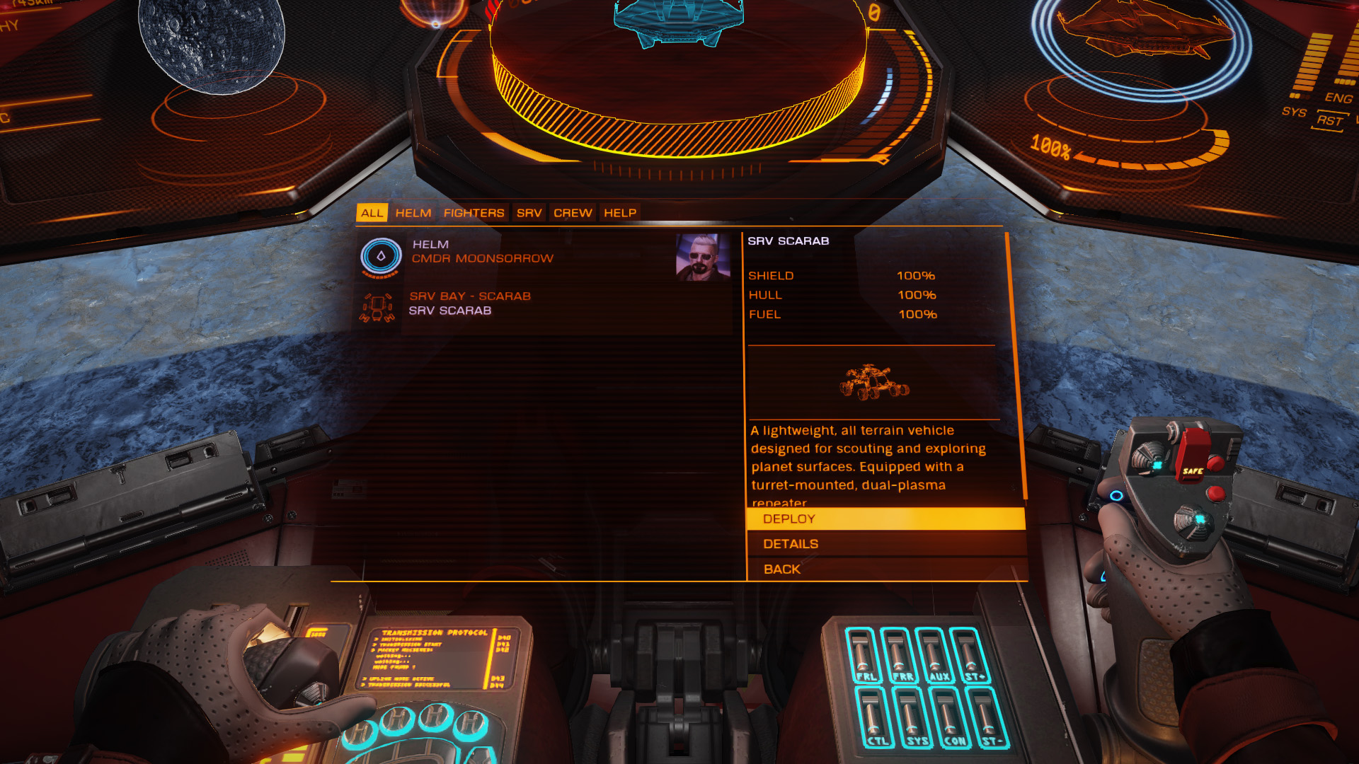 Elite: Dangerous beginner's guide: a screenshot showing the location of the role panel