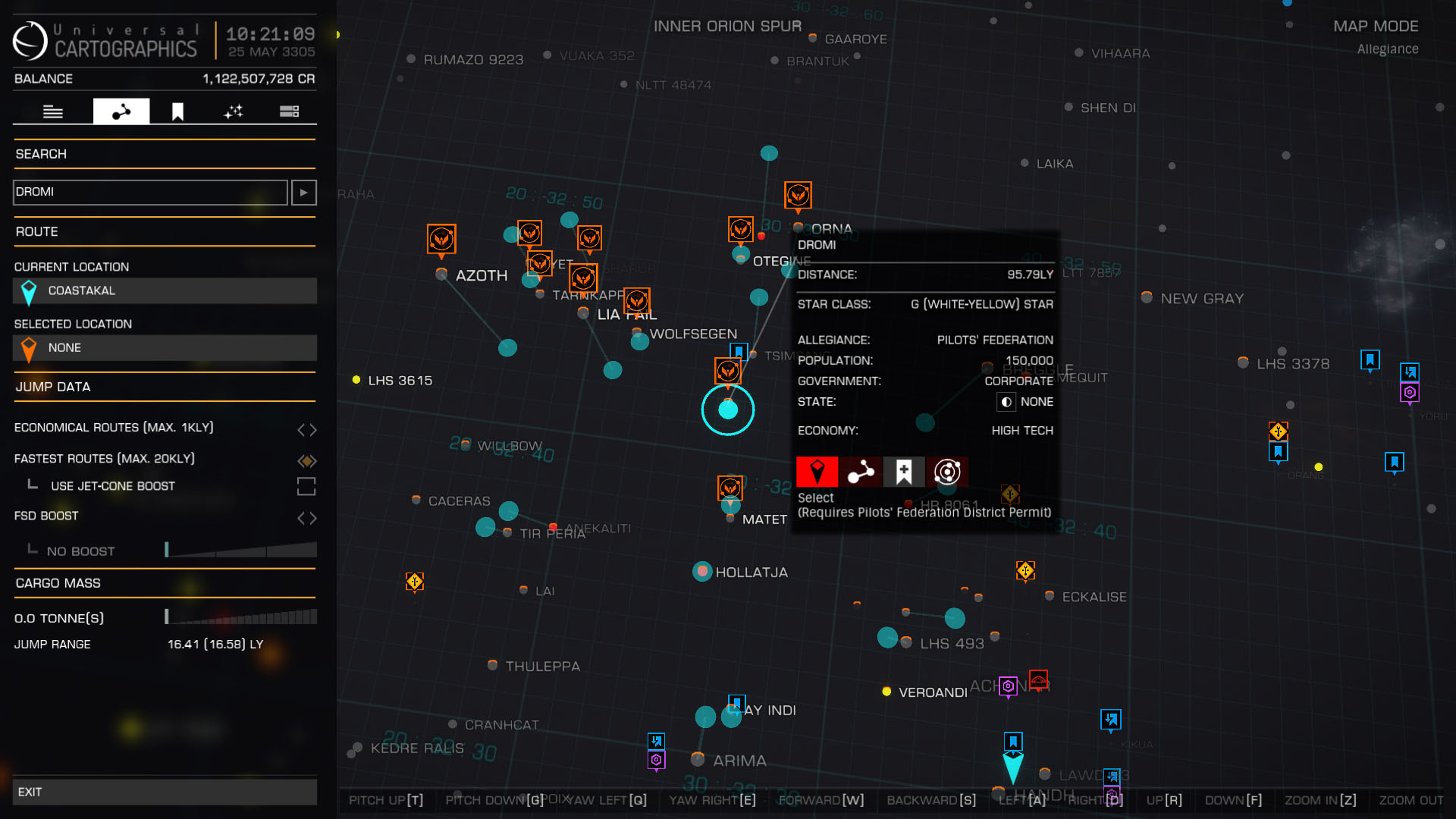 """The 10 systems that make up the Pilot's Federation District or """"starter's zone"""""""