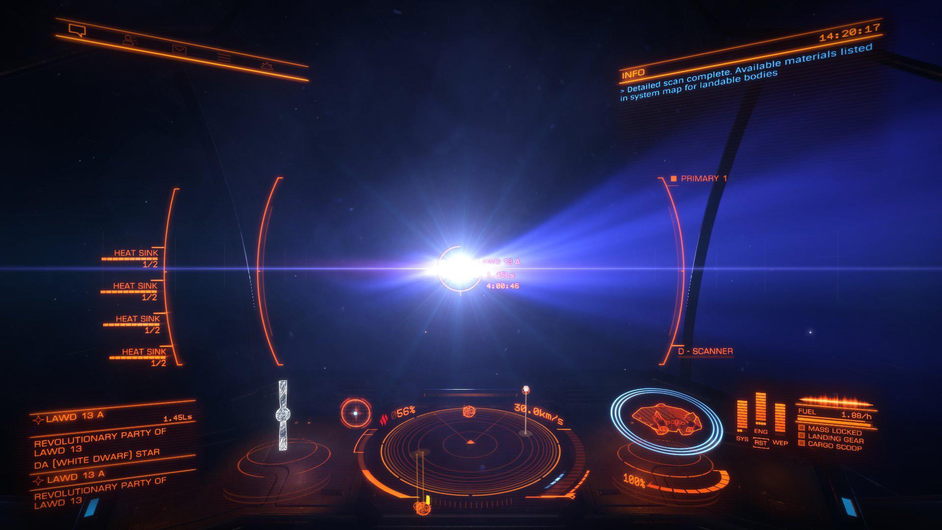 Elite: Dangerous beginner's guide: A screenshot showing FSD supercharging