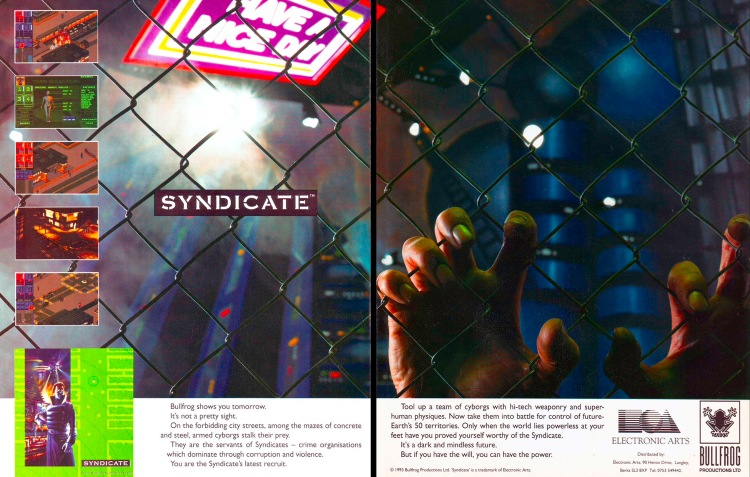 The Syndicate display ad from 1993.