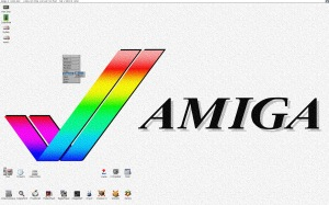Tidying up the icons on the Amiga Workbench desktop