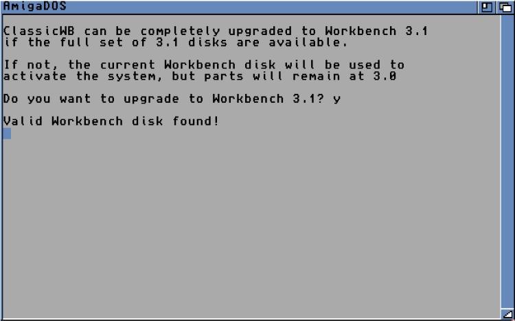 ClassicWB installation screen