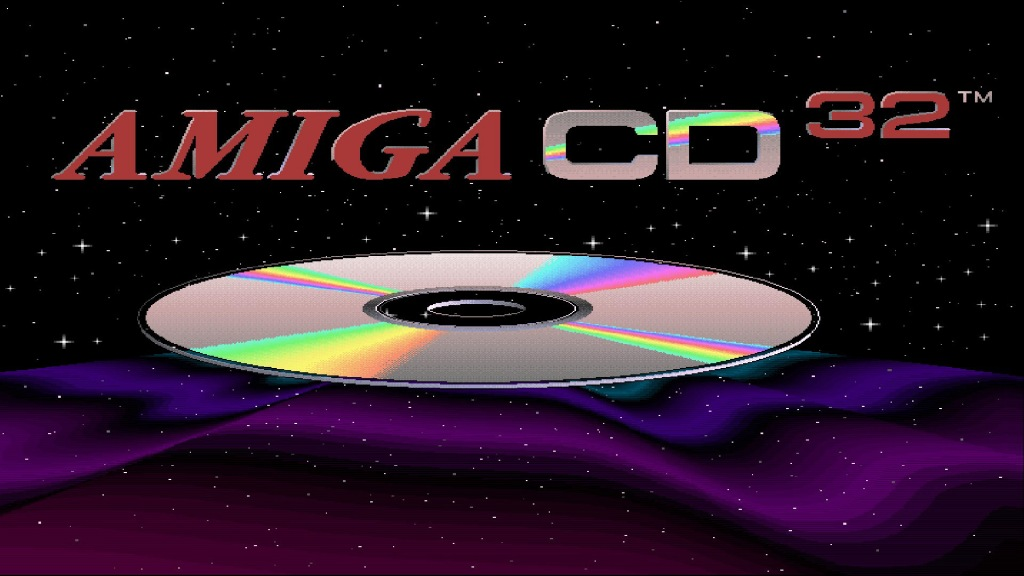 The Amiga CD32 boot screen
