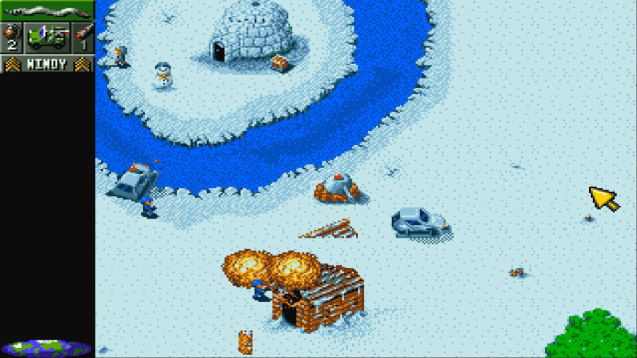 A screenshot from Cannon Fodder, released in 1993