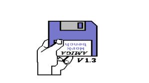 The insert-disk kickstart 1.3 boot screen from the A500
