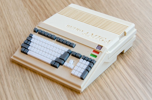 The 3D printed Amiga 500-style Raspberry Pi case