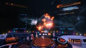 Detonating a motherlode asteroid in Elite: Dangerous