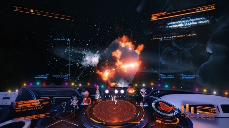 Detonating a motherlode asteroid in Elite: Dangerous