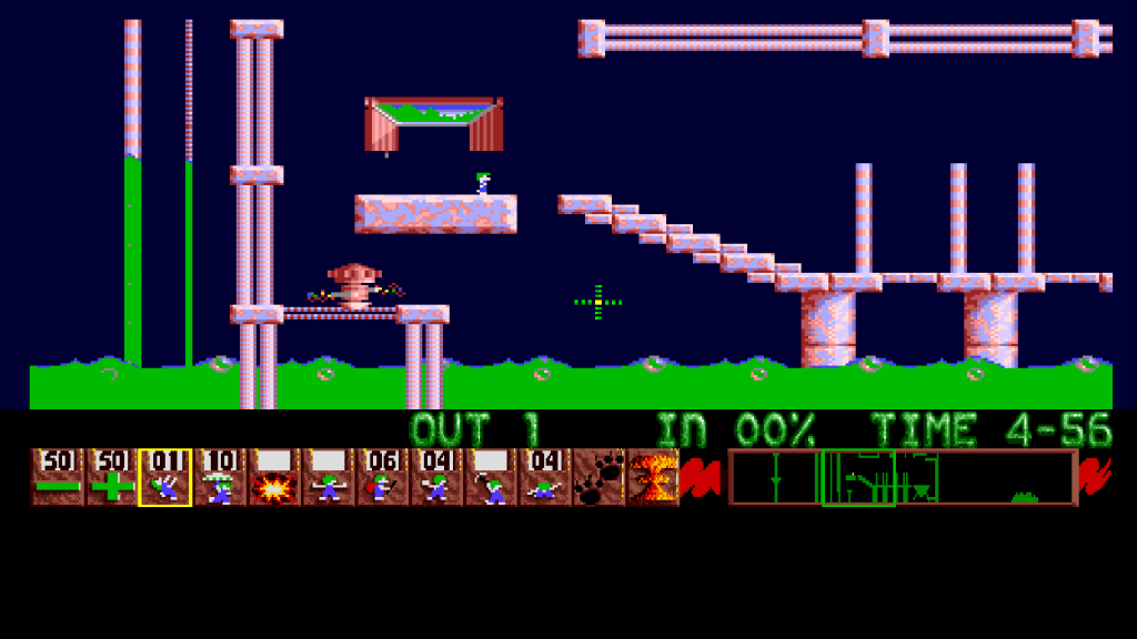 Lemmings (PAL) emulated in WinUAE on a 1920x1080 screen with default scaling