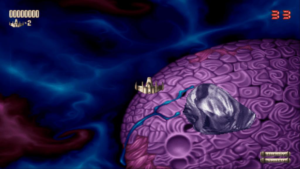 A screenshot of Amiga game Super Stardust emulated in WinUAE